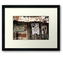 2a Avenida Mexico Framed Print
