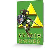 Skyrim Sword Greeting Card
