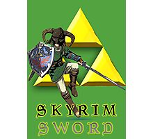 Skyrim Sword Photographic Print