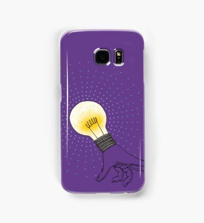Runaway Idea lightbulb hand Samsung Galaxy Case/Skin
