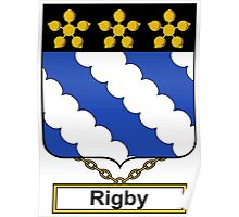 Rigby Coat of Arms (English) Poster