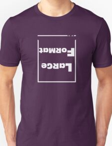 Large Format White Text T-Shirt
