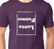 Large Format White Text Unisex T-Shirt