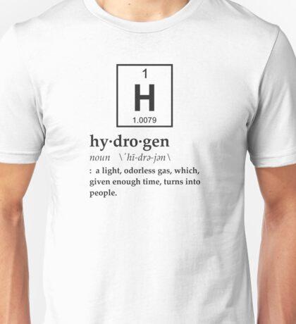 Anthropomorphic Definition of Hydrogen Unisex T-Shirt