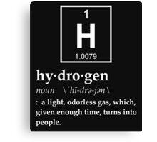 Anthropomorphic Definition of Hydrogen Canvas Print