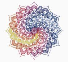 Sky Spiral Mandala One Piece - Short Sleeve