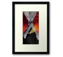 We Live In Hard Times. Not End Times. Framed Print