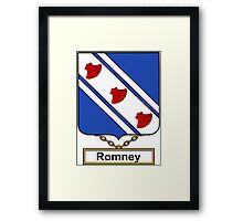Romney Coat of Arms (English) Framed Print