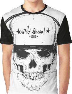 Skull with modern street style attributes Graphic T-Shirt