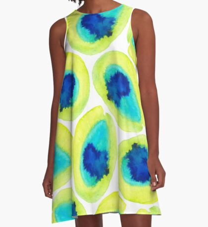 Electric Avocados  A-Line Dress