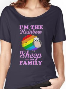 rainbow sheep family Women's Relaxed Fit T-Shirt