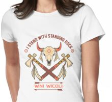 I STAND WITH STANDING ROCK - WNI WICOLI Womens Fitted T-Shirt