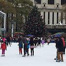 Skating Rink, Holiday Tree, New York City by lenspiro