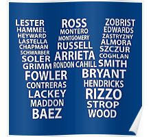 Cubs W Flag Poster