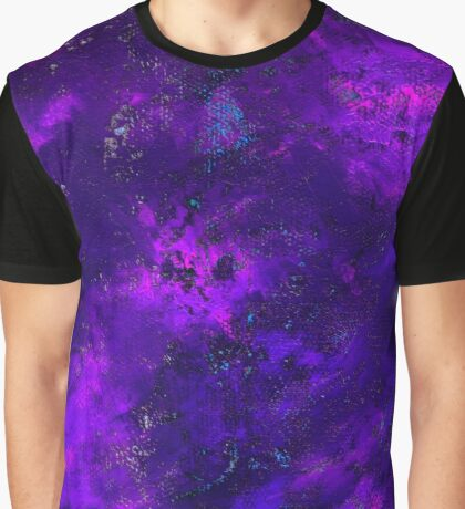 Purple Honeycomb Fire - Abstract Painting Graphic T-Shirt
