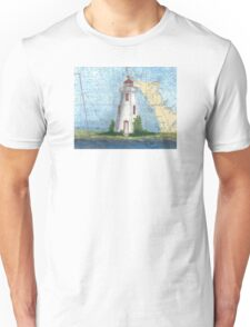 Tobermory Lighthouse Ontario Canada Nautical Chart Peek Unisex T-Shirt