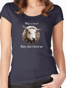 Baby Don't Herd Me Sheep Women's Fitted Scoop T-Shirt