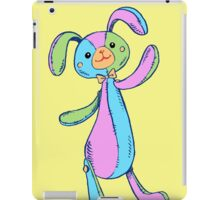 Patchwork Stuffed Bunny in Pastels iPad Case/Skin
