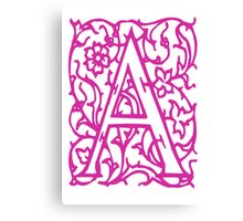 Just the letter A Canvas Print