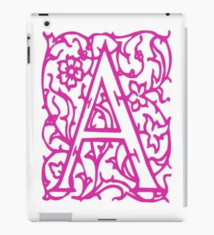 Just the letter A iPad Case/Skin