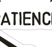 Out of Patience Gas Gauge Sticker