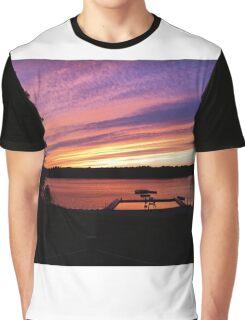 Camp Burgess Waterfront Sunset Graphic T-Shirt