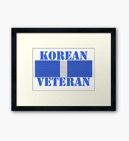 Korean Veteran Framed Print