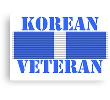 Korean Veteran Canvas Print