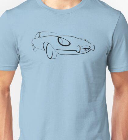 Jaguar E-Type graphic (Black) Unisex T-Shirt