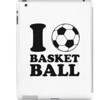 I Love Soccer Ball Basketball iPad Case/Skin