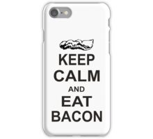 Keep Calm and Eat Bacon T-Shirt Funny Parody Meat TEE Food Pig Hog Breakfast iPhone Case/Skin