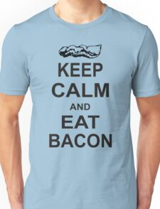 Keep Calm and Eat Bacon T-Shirt Funny Parody Meat TEE Food Pig Hog Breakfast Unisex T-Shirt