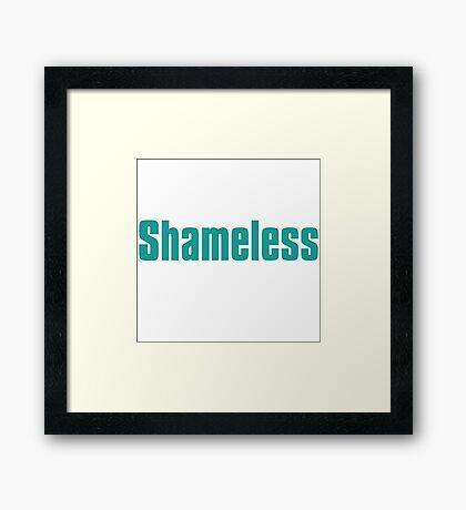shameless tv show Framed Print