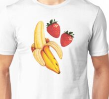 Strawberry Banana Pattern  Unisex T-Shirt