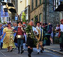 With Whistles And Shouts Here They Come -Helston Cornwall UK by lynn carter
