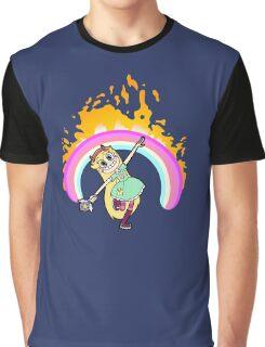 Rainbow on Fire Graphic T-Shirt