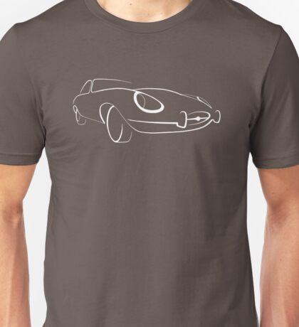 Jaguar E-Type graphic (White) Unisex T-Shirt
