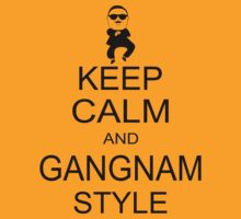 Keep Calm And Gangnam Style Black T-shirt Size S M L XL by beardburger
