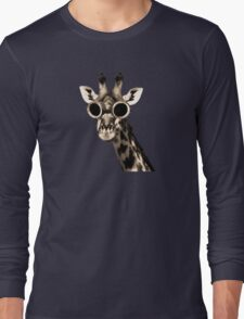 Giraffe With Steampunk Sunglasses Goggles Long Sleeve T-Shirt