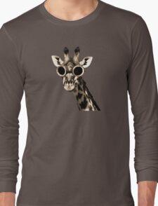 Giraffe With Steampunk Sunglasses Goggles Long Sleeve T-Shirt