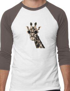 Giraffe With Steampunk Sunglasses Goggles Men's Baseball ¾ T-Shirt