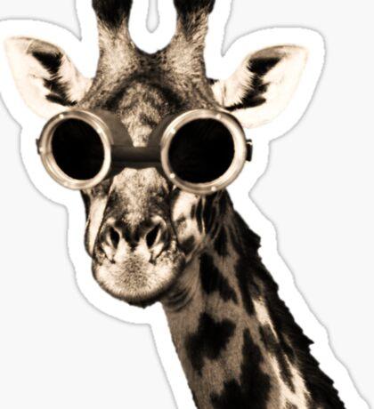Giraffe With Steampunk Sunglasses Goggles Sticker