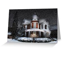 Snow by Moonlight Greeting Card