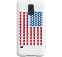 Beer Pong Drinking Game American Flag Samsung Galaxy Case/Skin