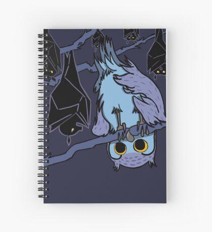 Batty Owl Spiral Notebook