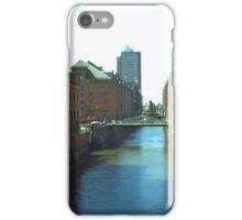 Hamburg HafenCity -tiltshift (5) - Speicherstadt iPhone Case/Skin