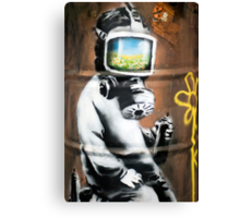 Banksy at HMV Canvas Print