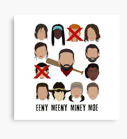 Negan - Eeny Meeny Miney Moe Canvas Print