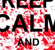 KEEP CALM AND WHERE'S CARL TSHIRT The Walking Zombie TEE APOCALYPES FUNNY Dead Sticker
