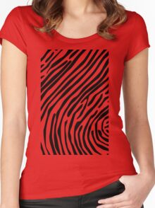 Skin of a zebra Women's Fitted Scoop T-Shirt